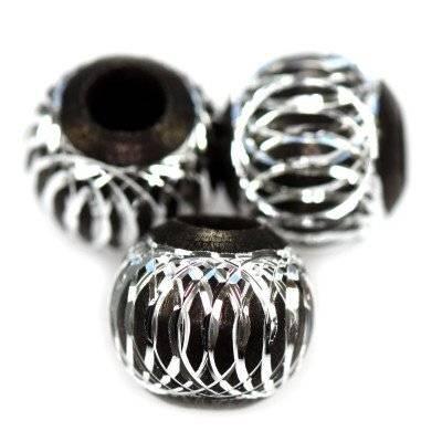 boules d'aluminium noires 12 mm
