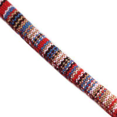 tissu cordon rouge et bleu 7 mm