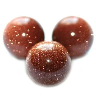 gold sandstone beads 8 mm / semi-precious stone synthetic