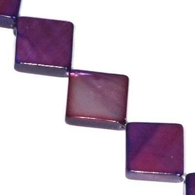 masa perłowa kwadraty 10 x 10 mm ametystowe