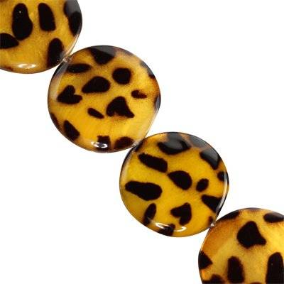 mother of pearl coin cheetah 25 mm