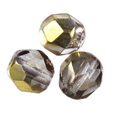 round beads gray bronze shade 6 mm