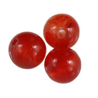 jadeit rubinowy 4 mm kamień naturalny barwiony