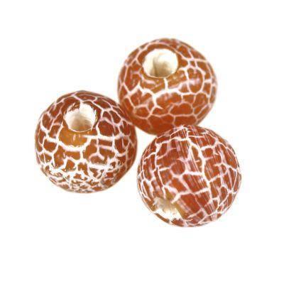 fire agate beads fire red 6 mm / semi-precious stone