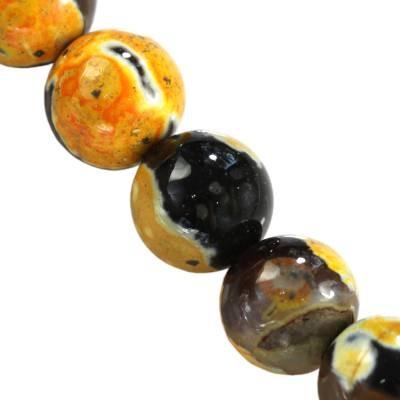 agat smocze oko żółty kule 8 mm kamień naturalny barwiony
