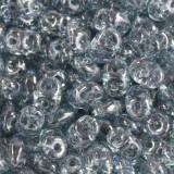 Perles SuperDuo 2,5 x 5 mm crystal blue luster / Tchèque Perles 2 trous
