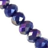Crystaline rondelle bleu foncé AB 4 x 6 mm / perles de cristal