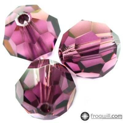 Swarovski round beads amethyst 8 mm