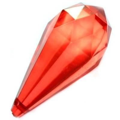 larmes en plastique rouges 22 x 47 mm