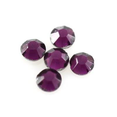 zircons flat mc chaton rose amethyst SS 6