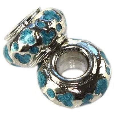 modular beads turquoise vases 7 x 12 mm
