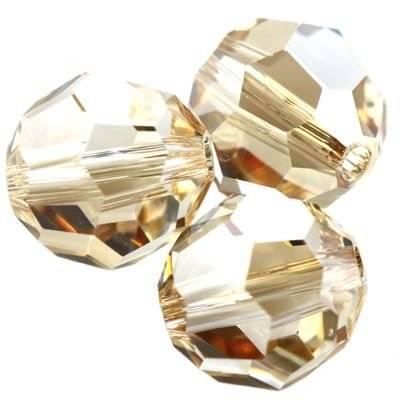 Swarovski round beads crystal golden shadow 4 mm