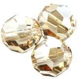 Swarovski round beads crystal golden shadow 4 mm